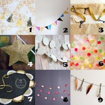 link love garland Link Love: Decorative Garland Crafts