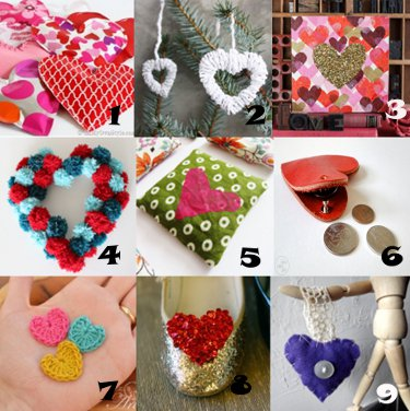 link love heart crafts Link Love: Heart Crafts for Valentines Day