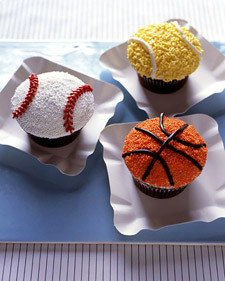 Sports Ball Cupcakes