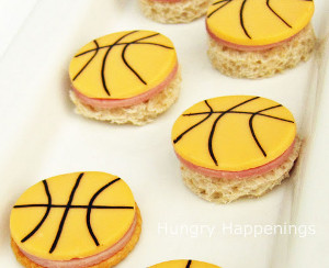 Basketball Bite-Sized Treats