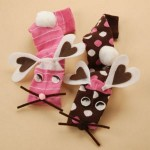 Valentine's Day Bunny Sock Puppets