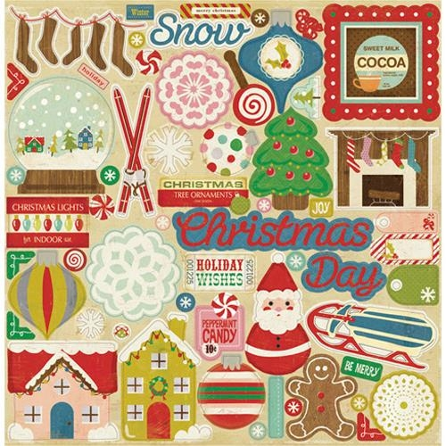 chipboard AllFreeChristmasCrafts Giveaway: Crate Paper Peppermint Collection Stickers, Labels, and Chipboard