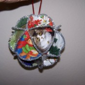 Christmas Ornament made of Christmas cards