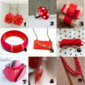 link love red crafts Link Love: Crafts That Will Have You Seeing Red