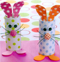 Polka Dot Bunny Craft