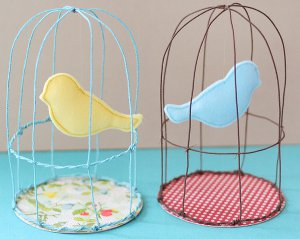 whimsical spring birdcages Whimsical Spring Birdcages: National Craft Month Project & Giveaway