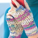 One Skein Free Pattern Chunky Lace Mittens