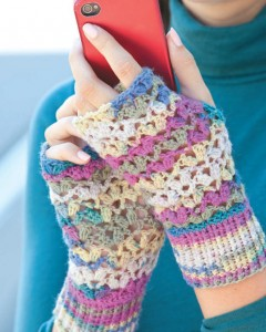 804300 ChunkyVsLaceMittssemail 240x300 One Skein Lace Mitts: National Craft Month Project & Giveaway