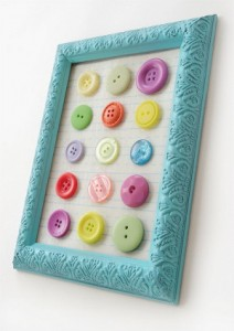 Colorful Button Collage