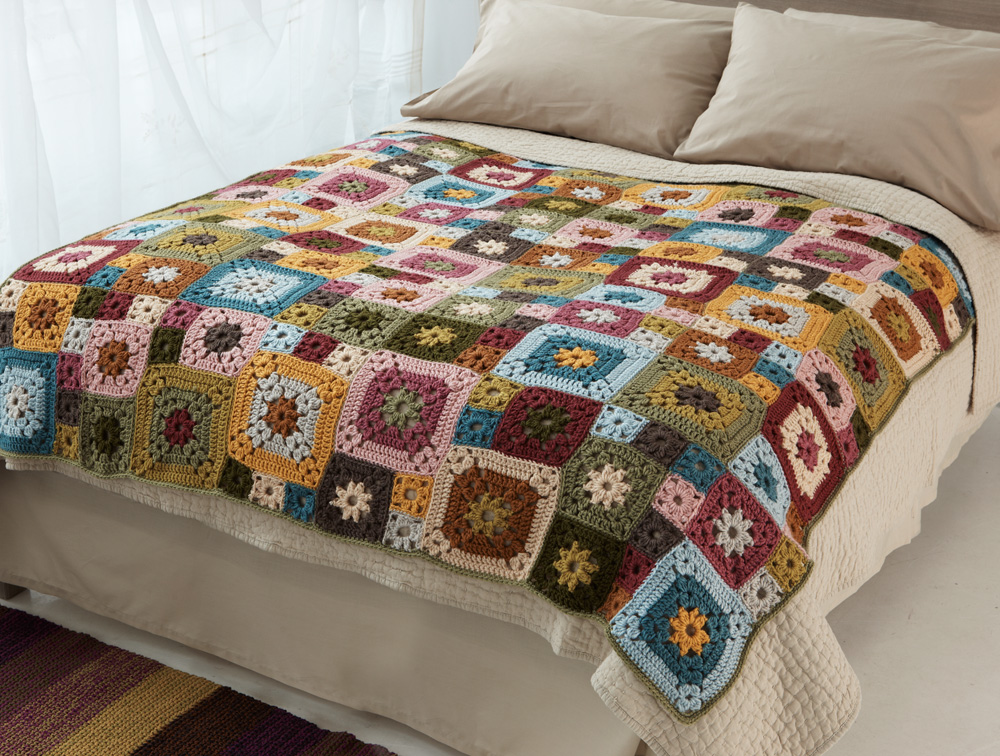 GardenPatchAfghan Garden Patch Granny Afghan: National Craft Month Project & Giveaway
