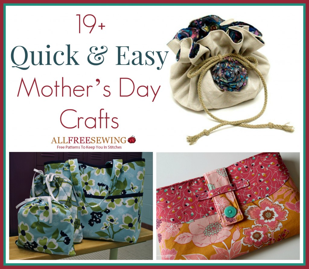 30 Free Sewing Patterns for Women: Mother's Day Gift Ideas