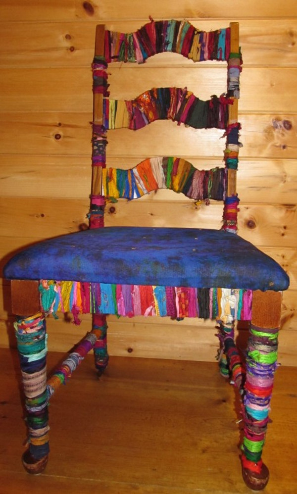 Upcycled Chair With Yarn Plus Earth Week Giveaway