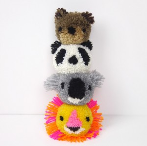 Animal Yarn Pom Poms