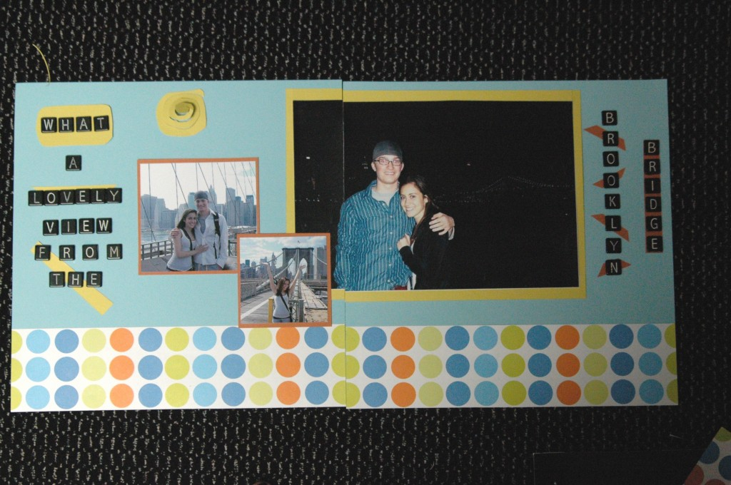 chris jaclyn scrapbook new york 001 1024x680 The Big Apple: Michaels Scrapbook Blogger Challenge