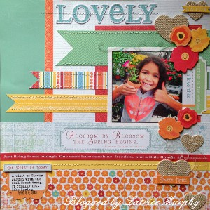 layout1 Start Summer with This Lovely Scrapbook Layout