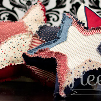 All Americana Stars Pillow Tutorial