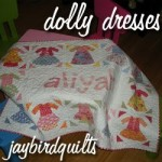 Dolly Dresses Personalized Baby Quilt