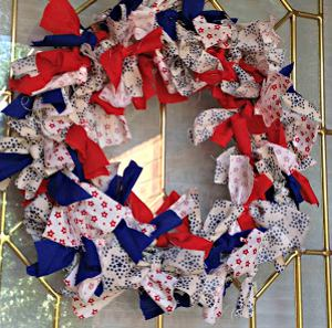 Fourth of July Fabric Wreath