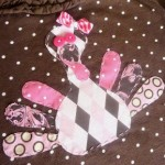 Girly Turkey Applique