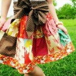 Little Girls Patchwork Skirt