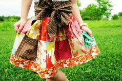 Little Girl's Patchwork Skirt