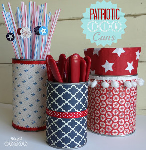 Patriotic Cuttlery Cans