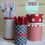 Patriotic Cutlery Cans