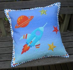 Rocket Ship Pillow