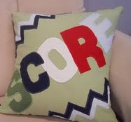 Sporty Applique Throw Pillow