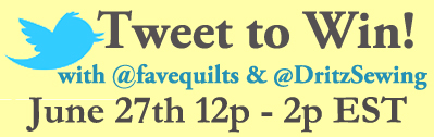 Twitter Contest Graphic FQ Dritz Twitter Contest Tomorrow: Win with FaveQuilts and Dritz Sewing!