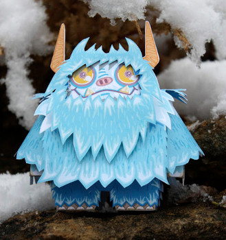 Printable Paper Monster Toy