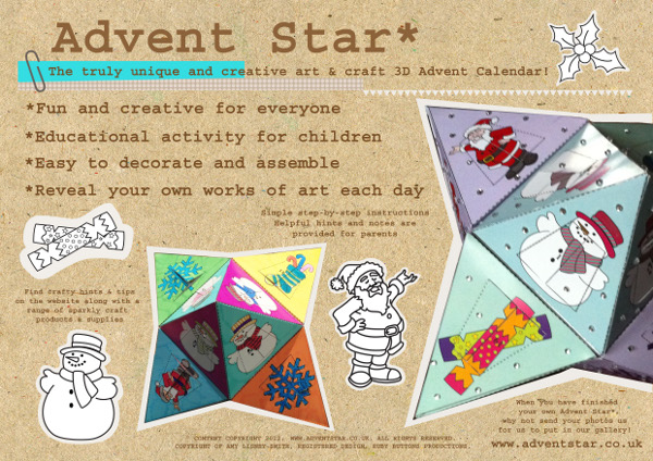 allfreechristmascrafts giveaway advent star calendars