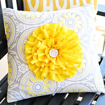 Big and Bright Flower Pillow