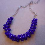 Cobalt Blueberries Necklace