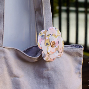 Fast Fabric Flower Embellishment