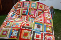 Quilter in Wonderland Block Pattern