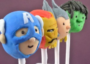 Earth's Mightiest Avengers Cake Pops