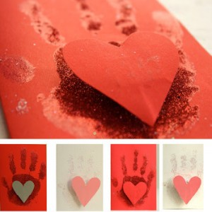 Hand Print on My Heart Card