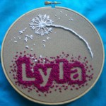 Baby Name Embroidery Hoop