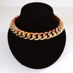 Speckled Curb Chain Necklace