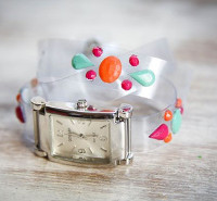 Floating Jewels Wrap Watch