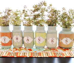 Give Thanks with Recycled Jars A Unique Spin on Thanksgiving Table Decorations