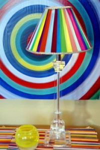 Scrap Ribbon Lampshade1 200x300 DIY Lamp Décor: Reusing those Remnants