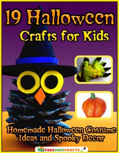 Halloween Crafts for Kids free eBook cover