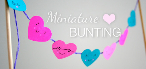 miniature bunting1 Lovable, Easy Crafts: Miniature Heart Bunting