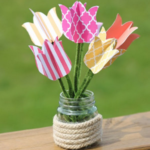 Printable Tulip Mason Jar Crafts
