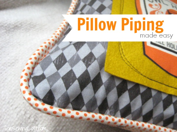 Throw Pillow Patterns Piping : Install Pillow Piping from The Sewing Loft: National Sewing Month 2013 - FaveCrafts