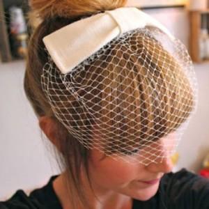 DIY Audrey Hepburn Inspired Birdcage Veil