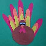 Family Handprint Turkey1 26 Terrific Thanksgiving Crafts for Kids: Games, Snacks, and Activities