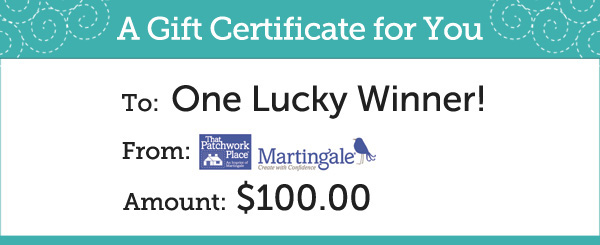 Martingale Giveaway Prize
